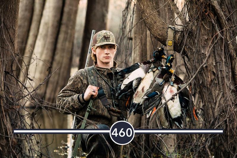 louisiana senior guy duck hunting wearing mossy oak camouflage